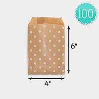 100 PCS - Polka dot craft paper jewelry bags