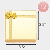 12 PCS - Ribbon bow deco hard jewelry gift boxes