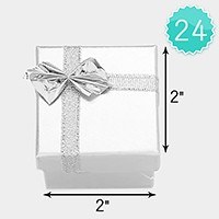 24 PCS - Ribbon bow deco hard jewelry gift boxes