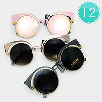 12 Pairs - Cat eye assorted sunglasses