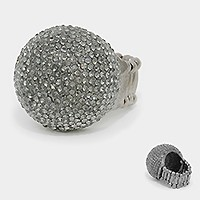 Pave dome stretch ring