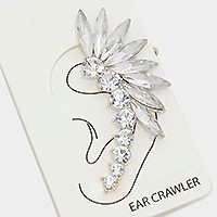 1PC - FEATHER CRYSTAL EAR CRAWLER