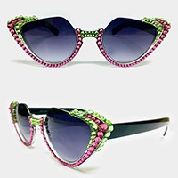 Crystal Studded Sunglasses