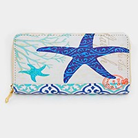Starfish zip around wallet