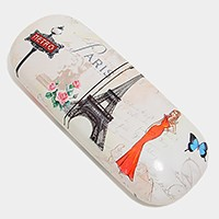 Retro Paris Eiffel tower & lady eyewear case