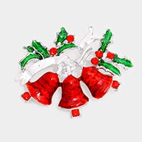Enamel Christmas Bell Pin Brooch