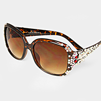 BUTTERYFLY CRYSTAL JEWELED SUNGLASSES