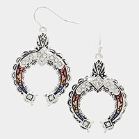 Crystal detail lacquered filigree metal earrings