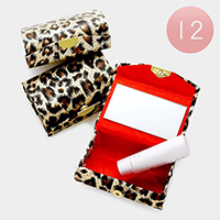 12 PCS - leopard pattern wide lipstick cases