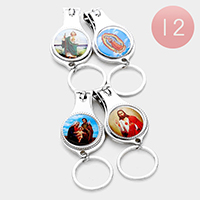 12 PCS - Jesus & Saint Mary keychain nail clippers
