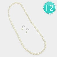 12 PCS - 8 mm pearl strand necklaces