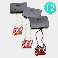 12 PCS - enamel 100 pendant necklaces