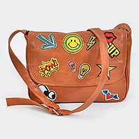 Emoji patch shoulder bag