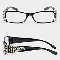 Crystal embellished reading glasses