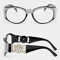 Crystal embellished clear lens Optical Glasses