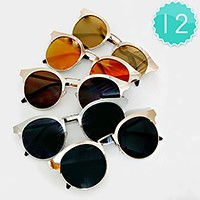 12 Pairs - metal frame sunglasses