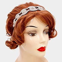 Felt back crystal rhinestone stretch headband