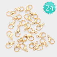 24 PCS - 14 mm Lobster Claw Clasps