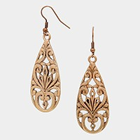 Antique metal filigree earrings
