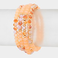 Beaded stack stretch bracelets