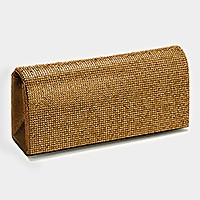 Shimmery Evening Clutch Bag Metal Chain Strap