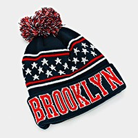 Brooklyn _ pom pom beanie hat
