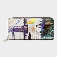 London bridge & big ben zip around wallet