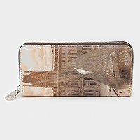 Paris louvre museum zip around wallet