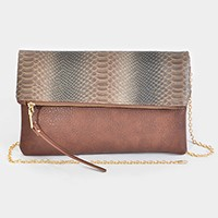 Faux Rabbit Skin Foldable Clutch
