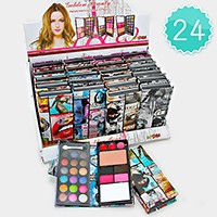 24 PCS - magazine cover makeup eyeshadow & lip wallet palettes