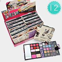 12 PCS - magazine cover all in one makeup wallet palettes