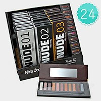 24 PCS - Nude essential eyeshadow palettes