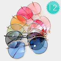 12 Pairs - aviator sunglasses
