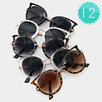 12 Pairs - double deck cat eye sunglasses