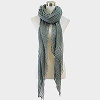 Solid color light weight oversized mesh scarf