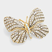 Crystal Pave Butterfly Pin Brooch
