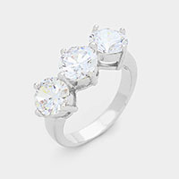 Triple CZ ring