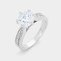 Round cut CZ ring