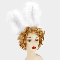 Bunny ears fur lace headband
