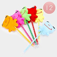 12 PCS - frog ball point pens