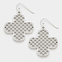 Metal  clover earrings