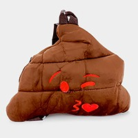 Poop kiss emoji backpack bag