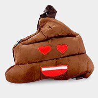 Poop heart eyes emoji backpack bag