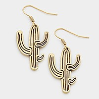 Metal cactus earrings