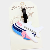 Airplane _ Bon Voyage luggage tag