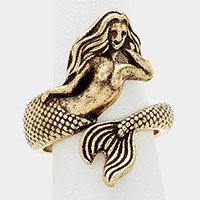 Metal mermaid wrap ring