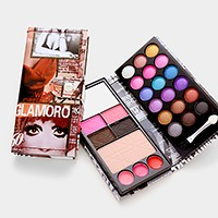 Magazine cover all in one makeup wallet palette