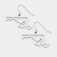 MARYLAND MAP OUTLINE DROP EARRINGS