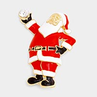 Enamel Santa Claus Pin brooch