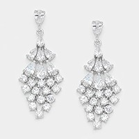 Crystal cubic zirconia CZ evening earrings